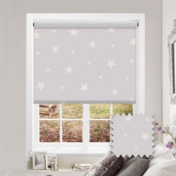 Glow-In-The-Dark Patterned Roller Blind in Blackout Night Night Fabric